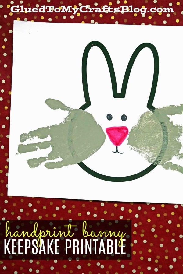 Handprint Bunny Keepsakes w/free printable template