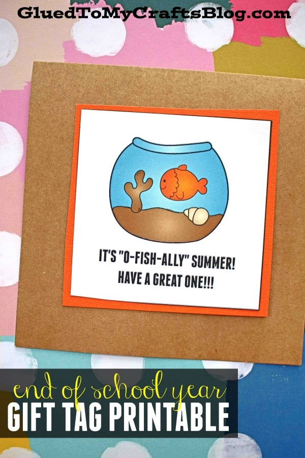 It's O-FISH-ALLY Summer - Gift Tag Printable