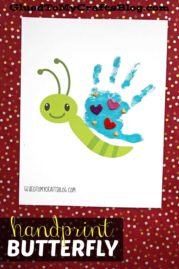 Handprint Butterfly Keepsake w/free printable