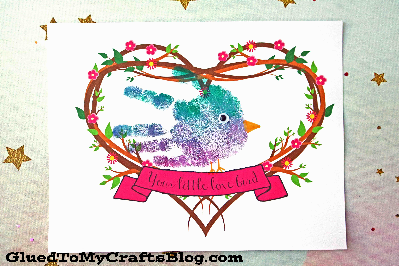 Handprint My Little Love Bird Keepsake