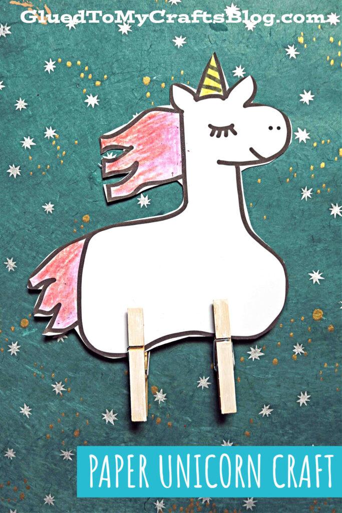 Paper & Clothespin Unicorn - Kid Craft Idea