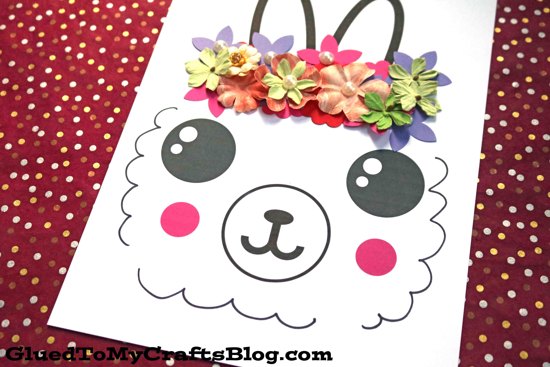 Flower Crown Llama - Paper Kid Craft