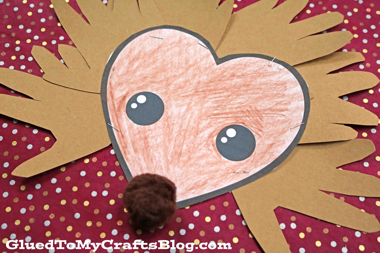 Paper Handprint Hedgehog - Kid Craft Idea