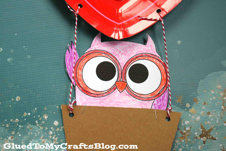 Hot Air Balloon Riding Owl - Kid Craft