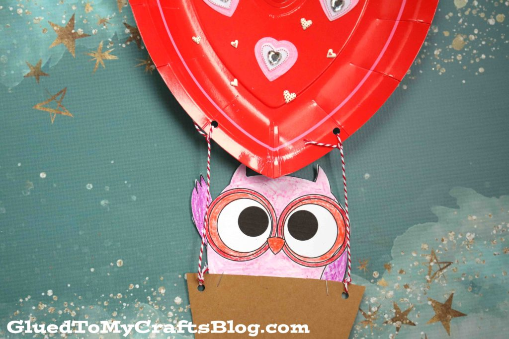 Hot Air Balloon Riding Owl - Kid Craft - Glued To My Crafts