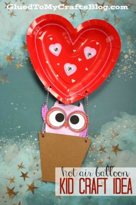 Hot Air Balloon Riding Owl - Kid Craft