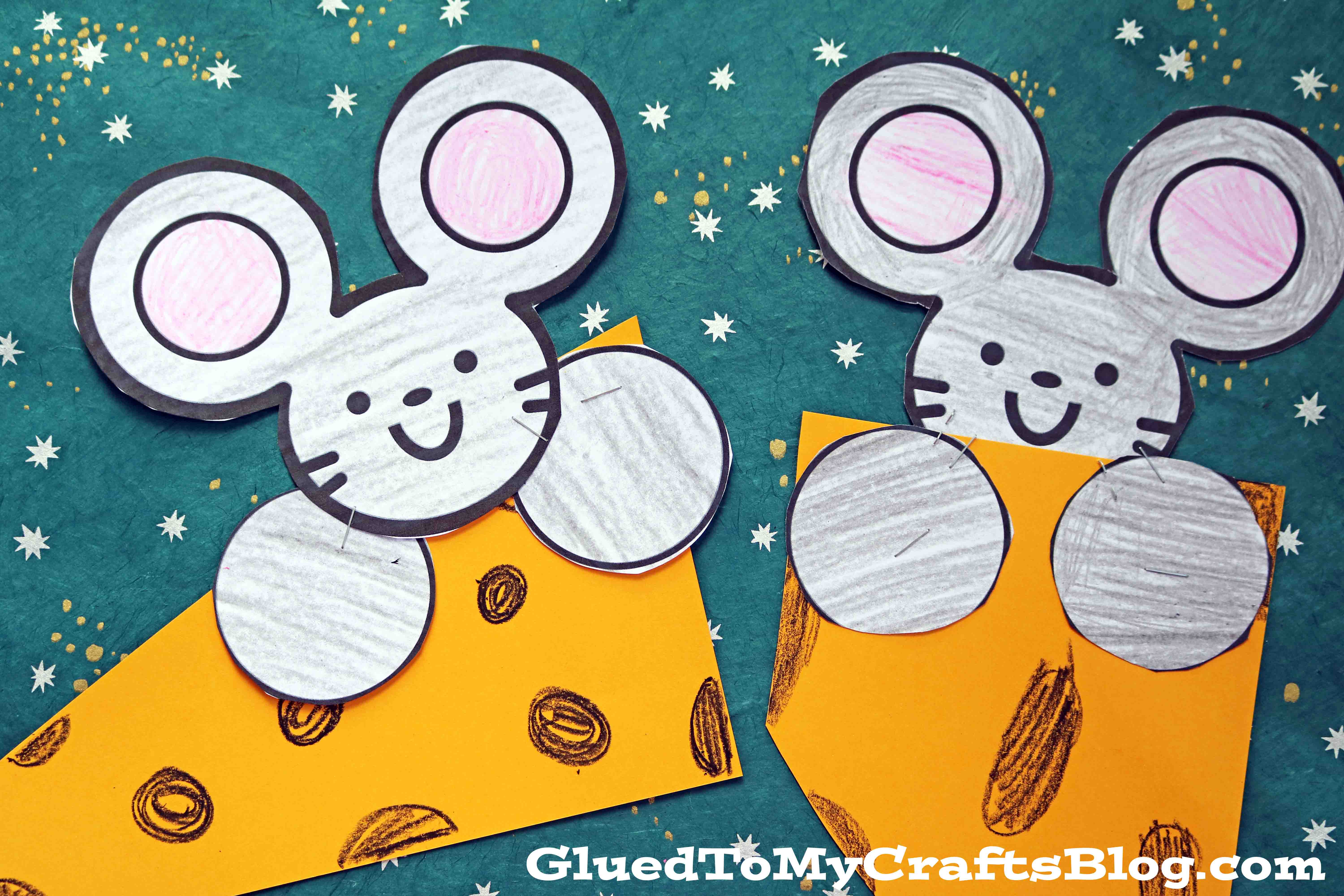Mouse and Cheese - Paper Kid Craft