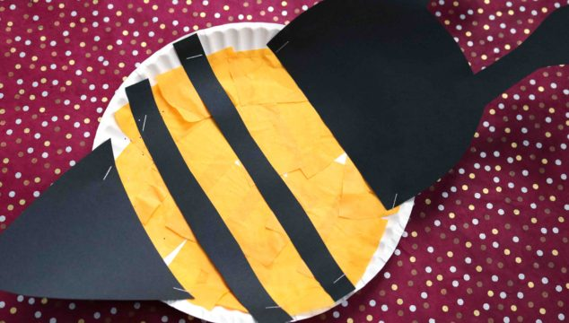 Paper Plate Honey Bee {Kid Craft}