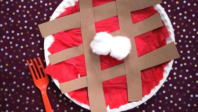 Paper Plate Cherry Pie - Kid Craft Idea