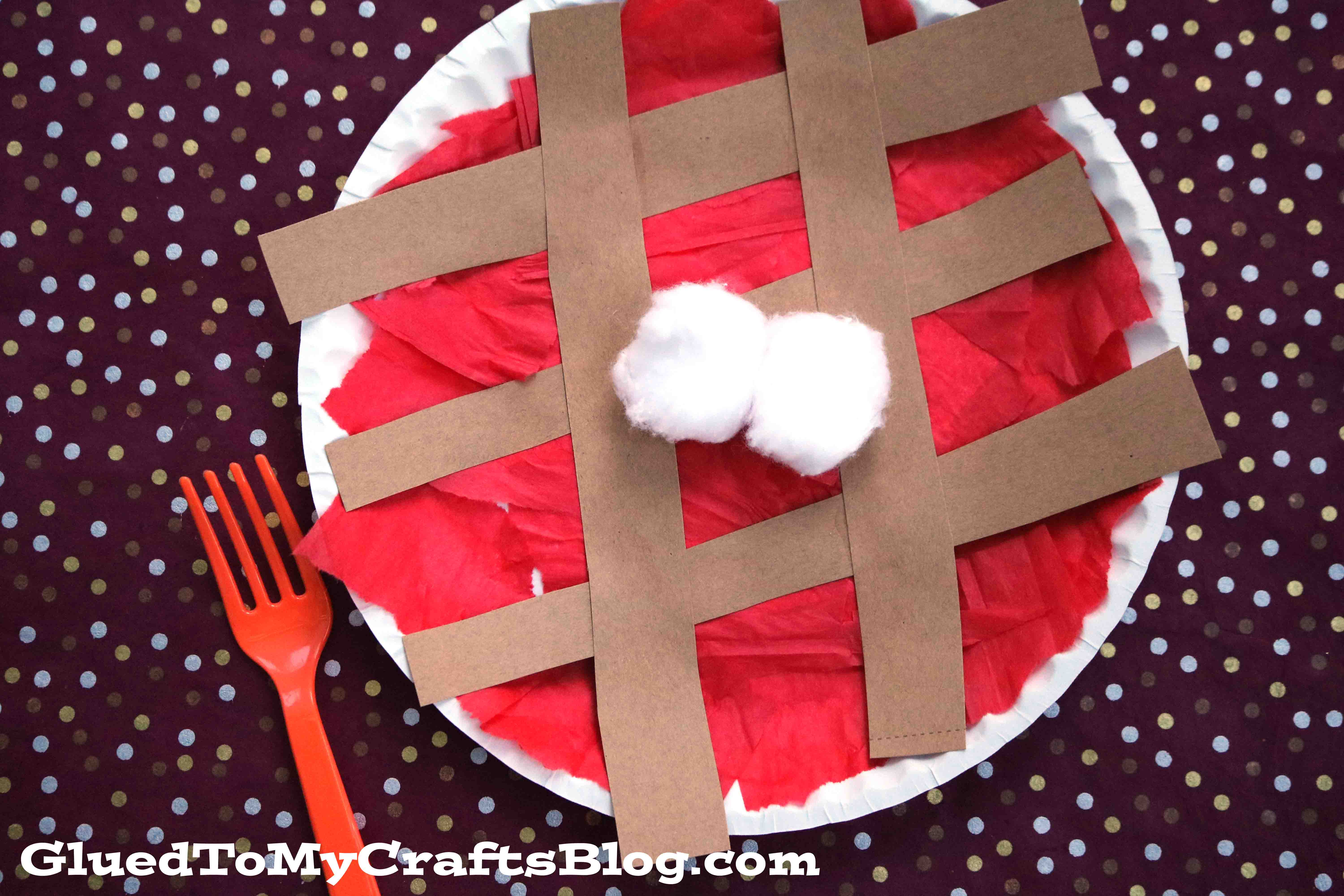 Paper Plate Cherry Pie - Kid Craft Idea