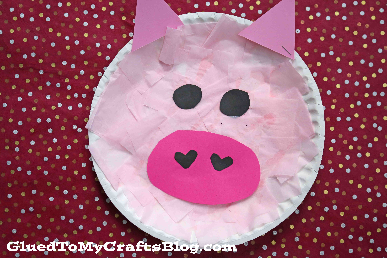 Paper Plate Piggy {Kid Craft}