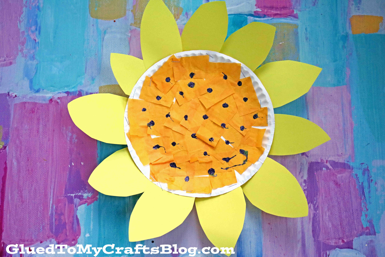 Paper Plate Sunflower {Kid Craft}