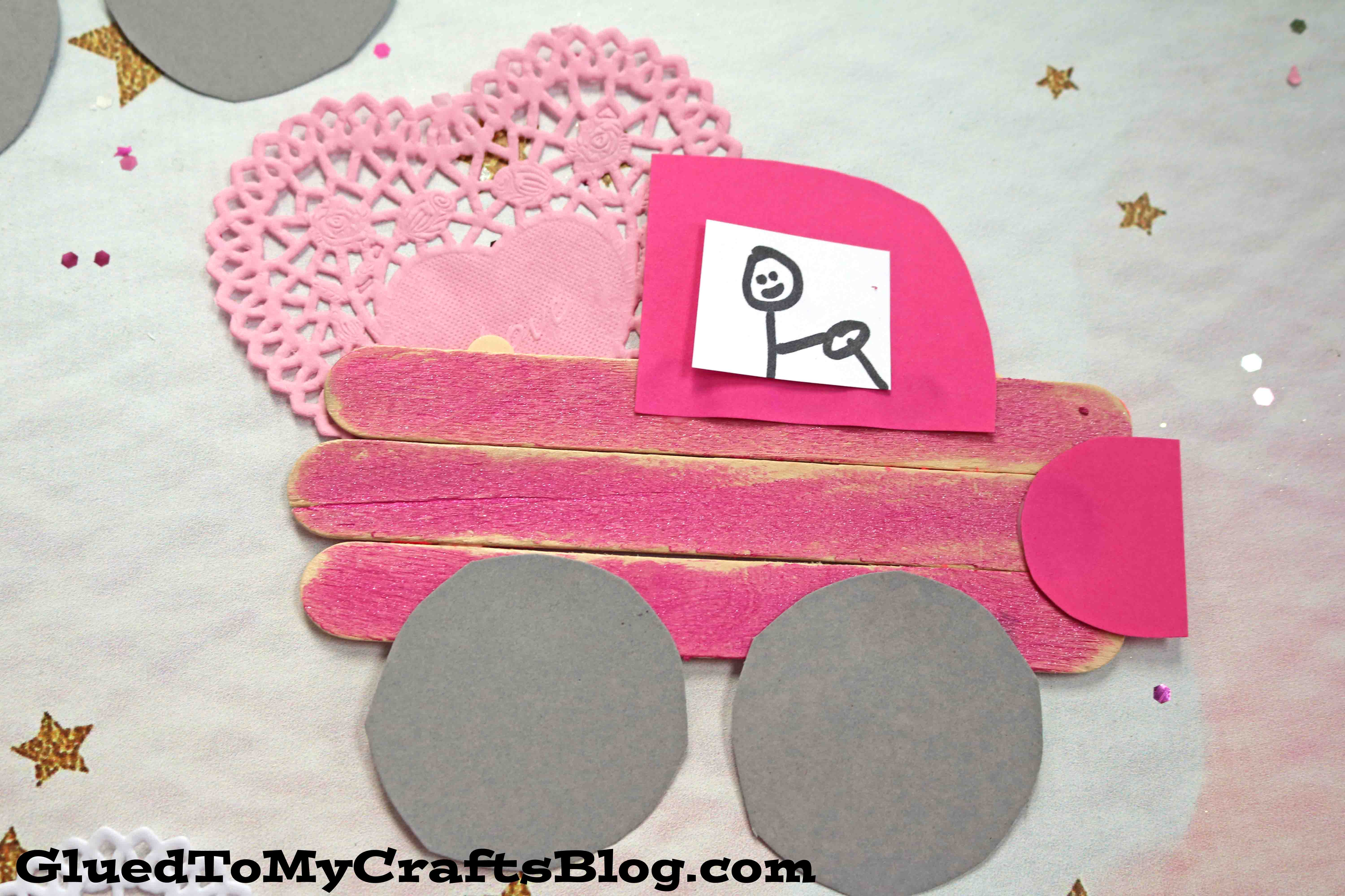 Popsicle Stick Valentine Love Truck - Kid Craft