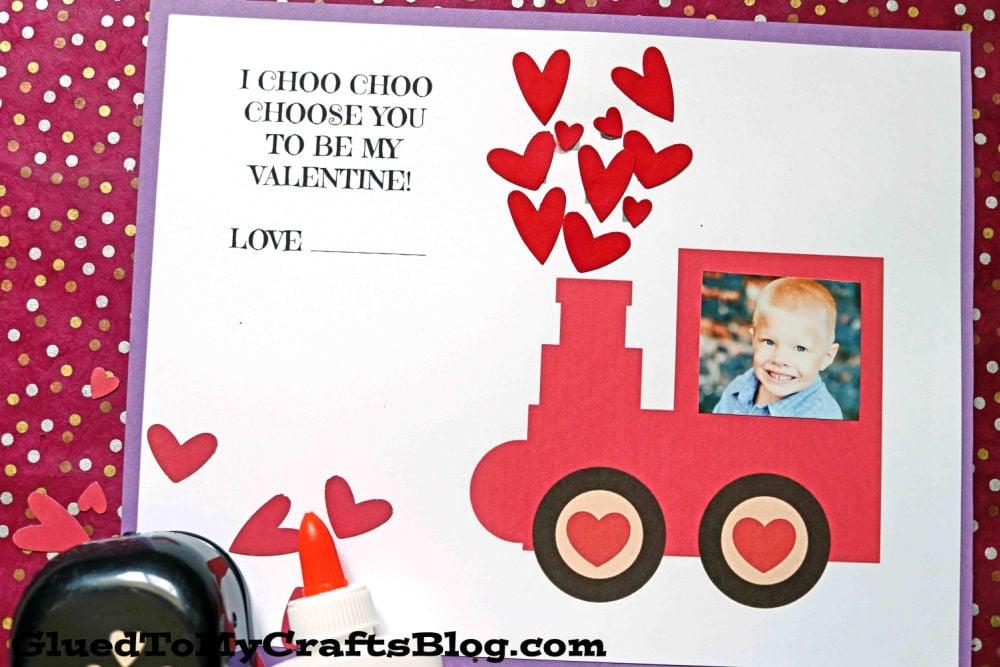 I Choo Choo Choose You To Be My Valentine - Paper Valentine's Day Train