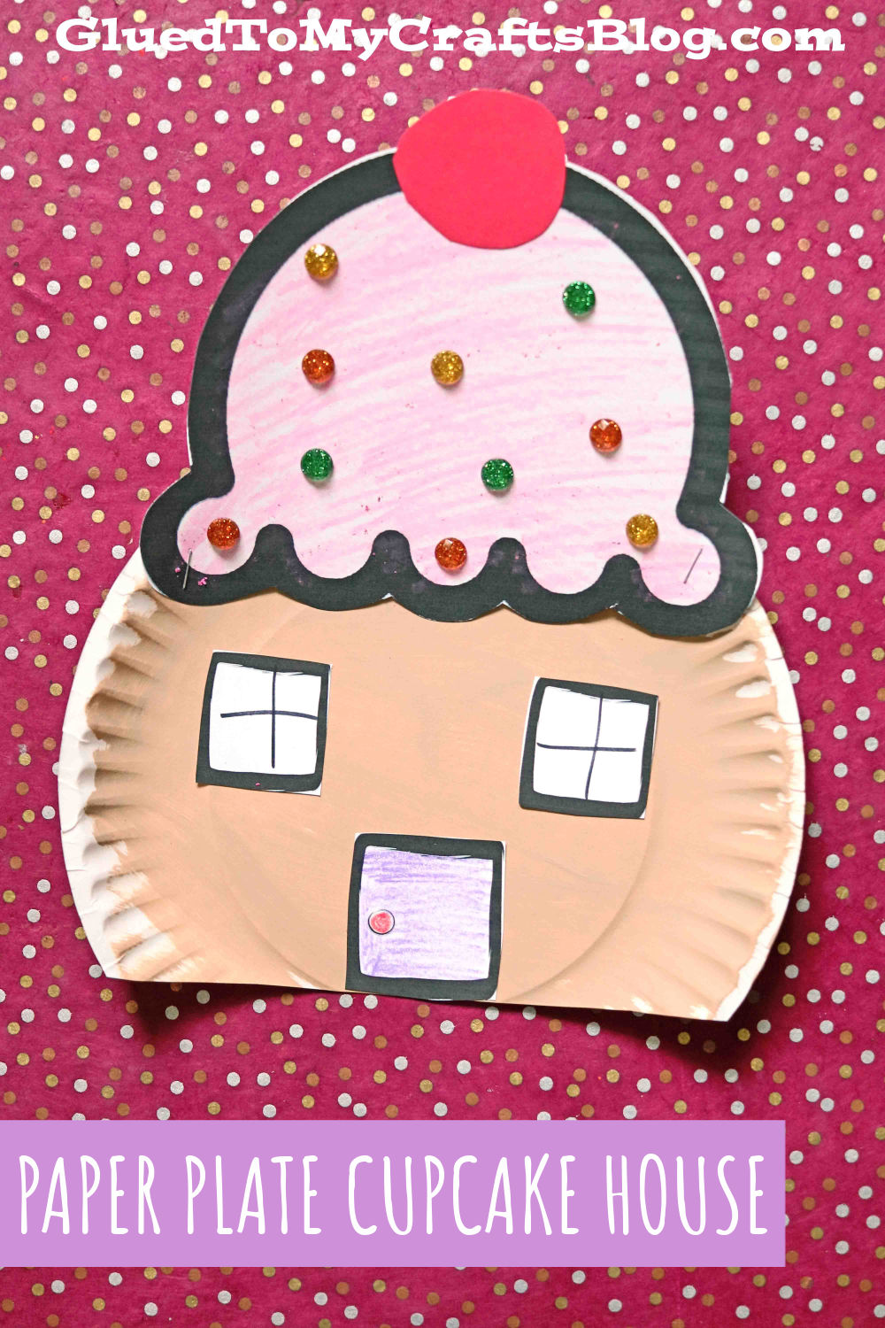 Paper Plate Cupcake House - The SWEETEST Valentine's Day Kid Craft Idea