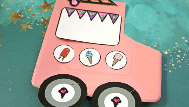 Paper Plate Ice Cream Truck - Kid Craft