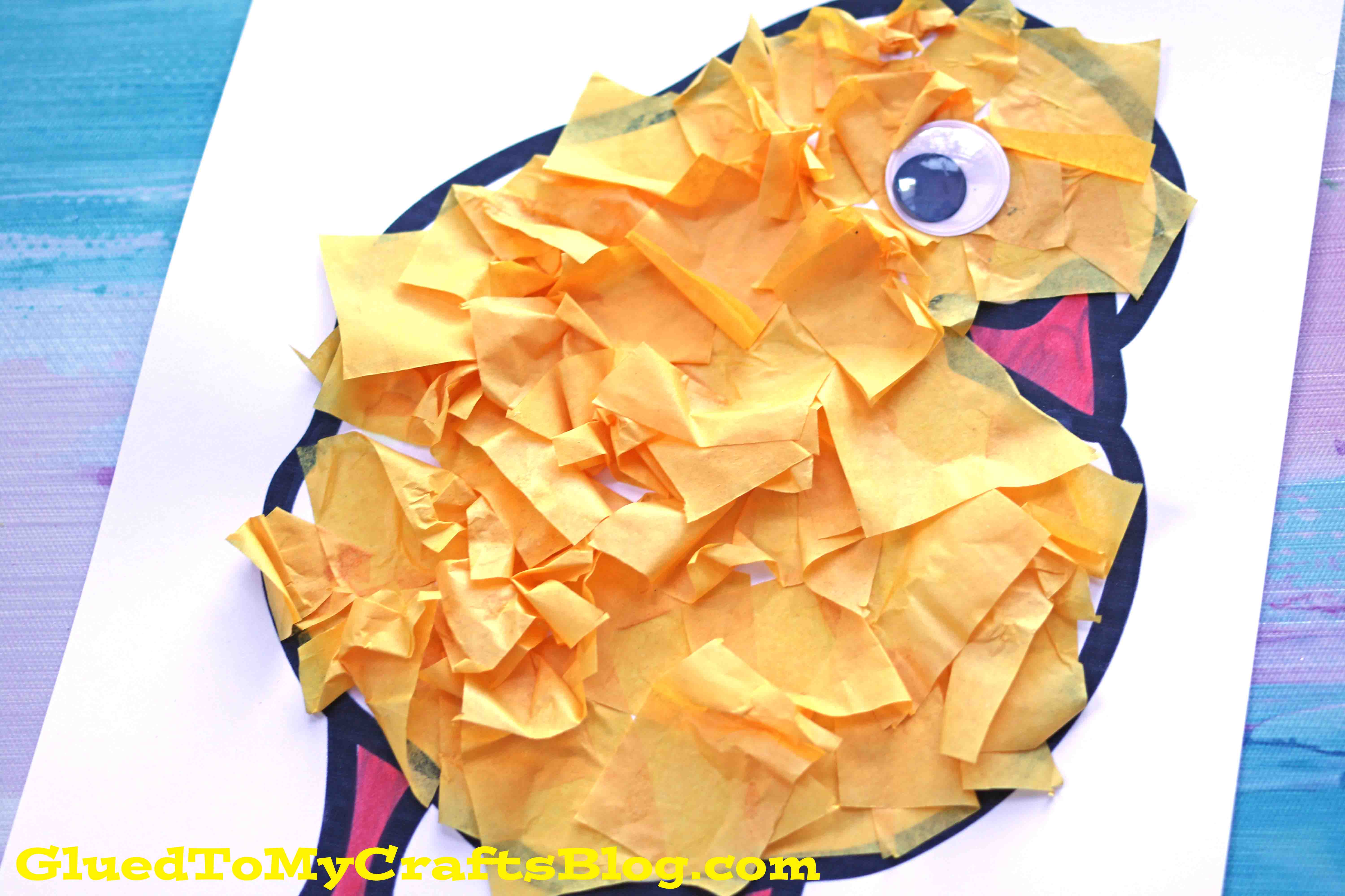 SUPER EASY Tissue Paper Baby Chick Craft