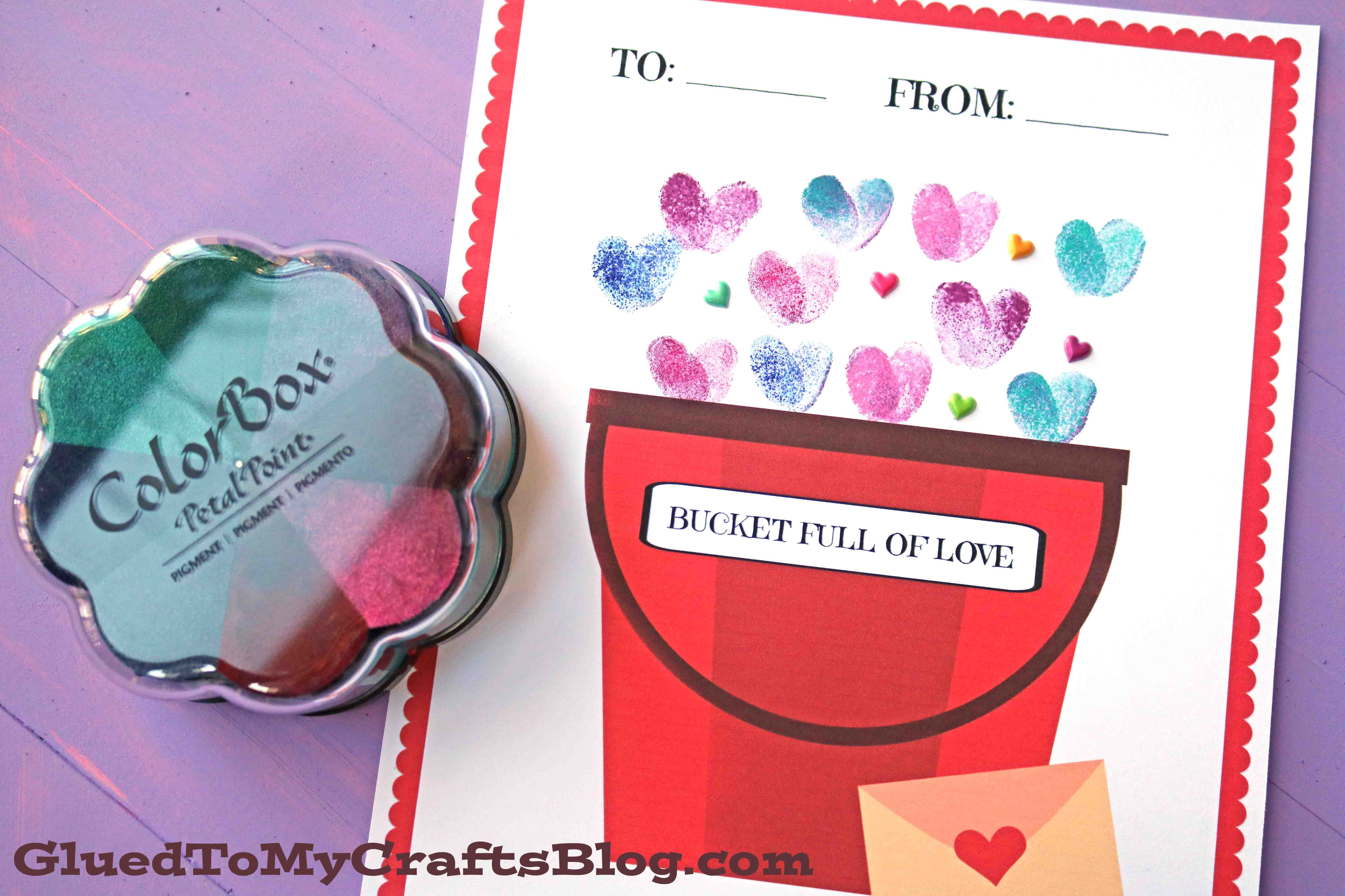 Thumbprint Fill Someone S Bucket Up Valentine S Day Addition