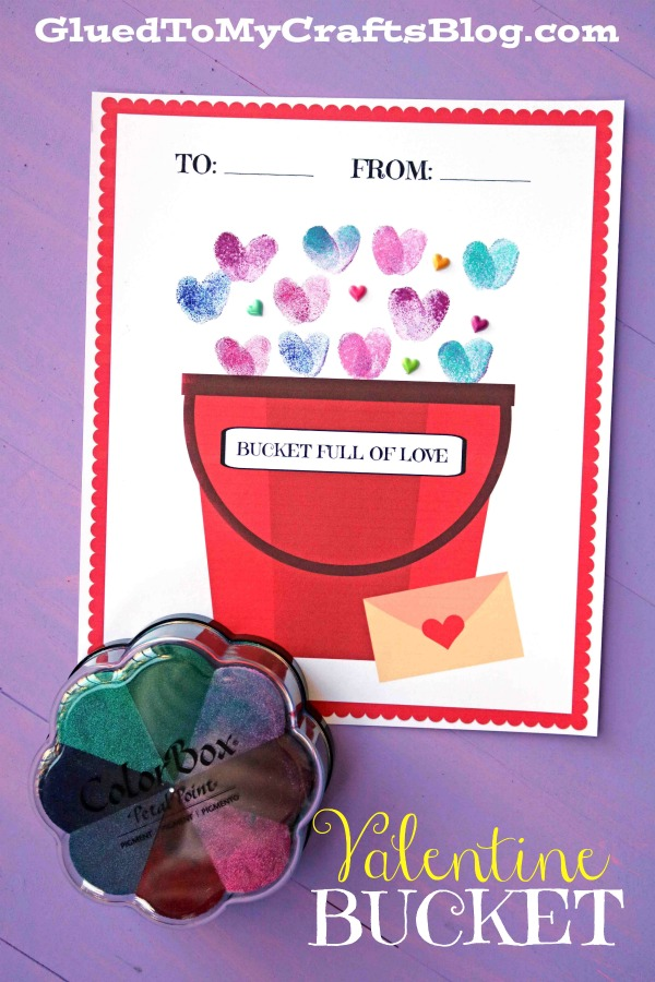 Thumbprint Fill Someone's Bucket Up - Valentine's Day Addition