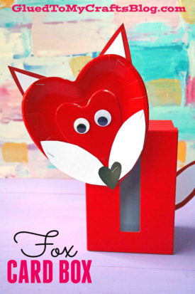 Fox Valentine's Day Card Box Craft