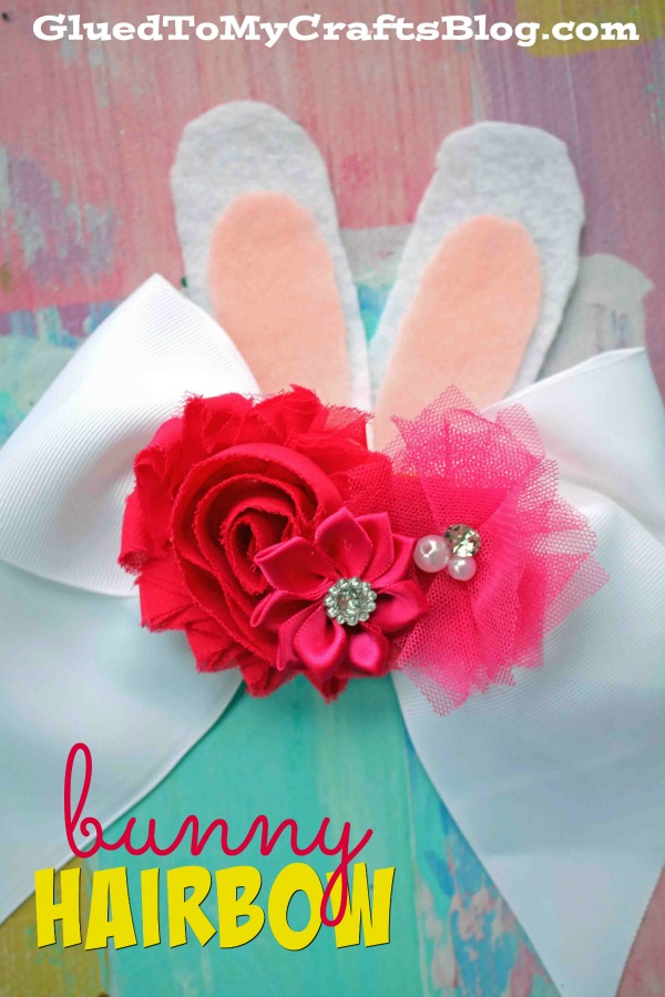 Spring Themed Bunny Bow Tutorial