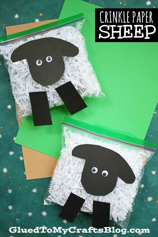 Crinkle Paper Sheep - Kid Craft Idea For Spring