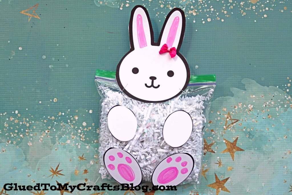 Crinkle Paper Bunny - Spring Kid Craft Idea