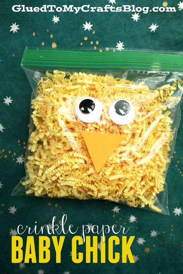 Crinkle Paper Baby Chick - Kid Craft Idea
