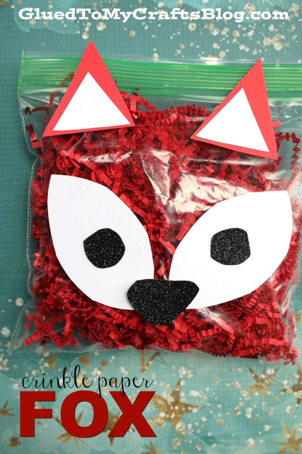 Crinkle Paper Red Fox Friend - Kid Craft Idea