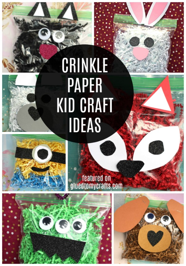 Easter Crinkle Paper Crafts - Roundup Collection For Kids