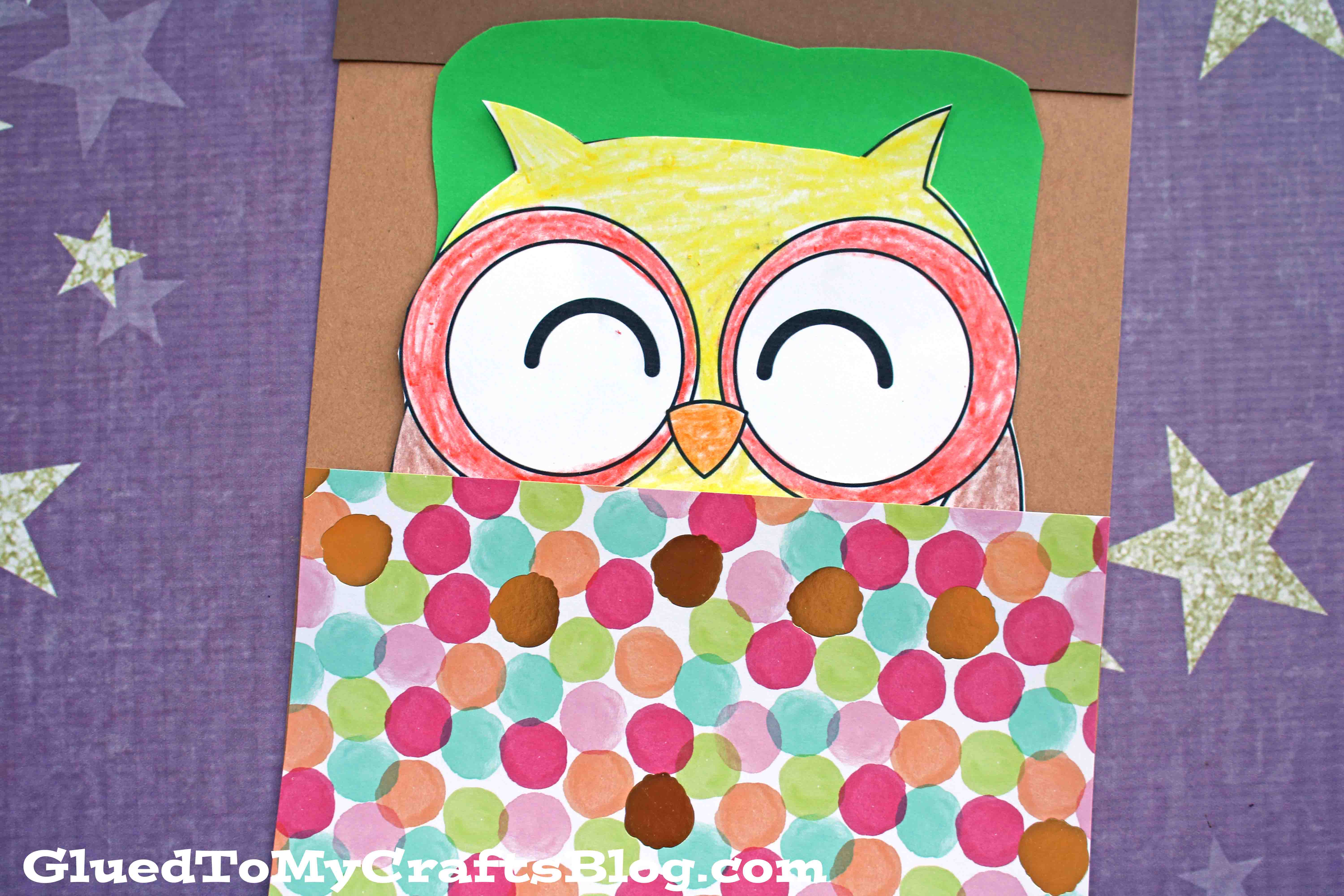 Paper Sleeping Owl - Kid Craft