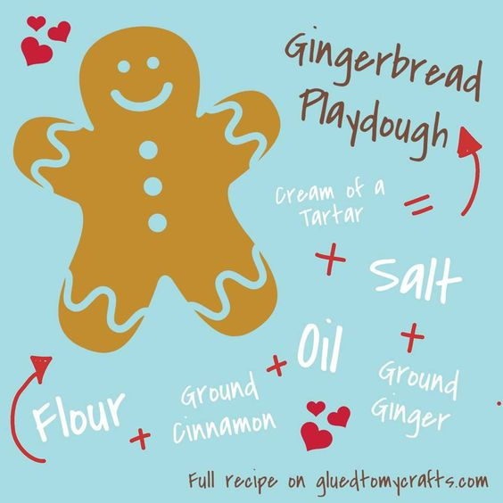 Homemade Gingerbread Scented Playdough Recipe