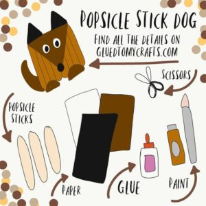 Popsicle Stick Dog - Kid Craft Idea
