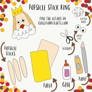 Popsicle Stick King - Kid Craft