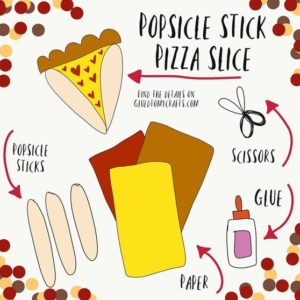 Popsicle Stick Pizza - Kid Craft Idea