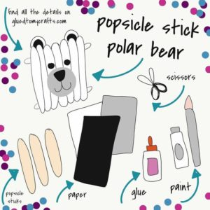Popsicle Stick Polar Bear - Kid Craft Idea