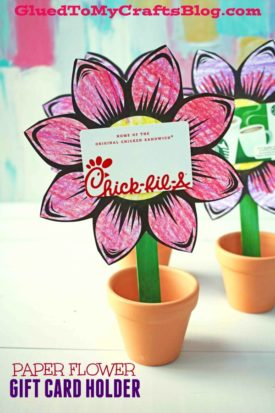 Kid Made Paper Flower Gift Card Holder
