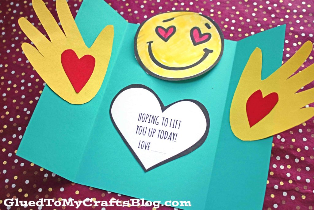 Handprint Lift You Up Card - Kid Craft