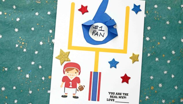 "Handprint ""You Are The Real MVP"" Paper Keepsake Idea"