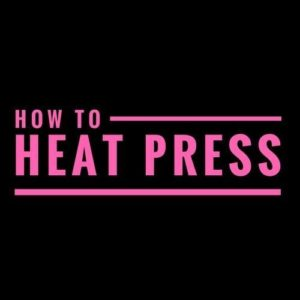 How To Heat Press Logo