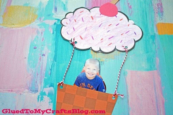 Paper Cupcake Hot Air Balloon - Kid Craft