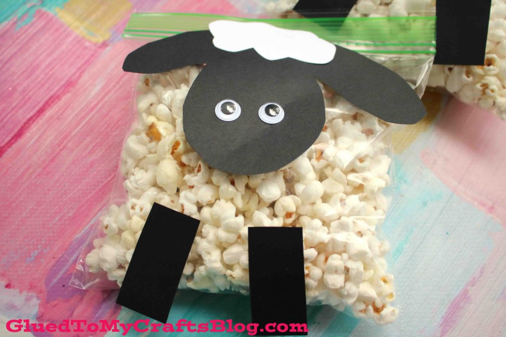 Creative Popcorn Sheep Kid Craft