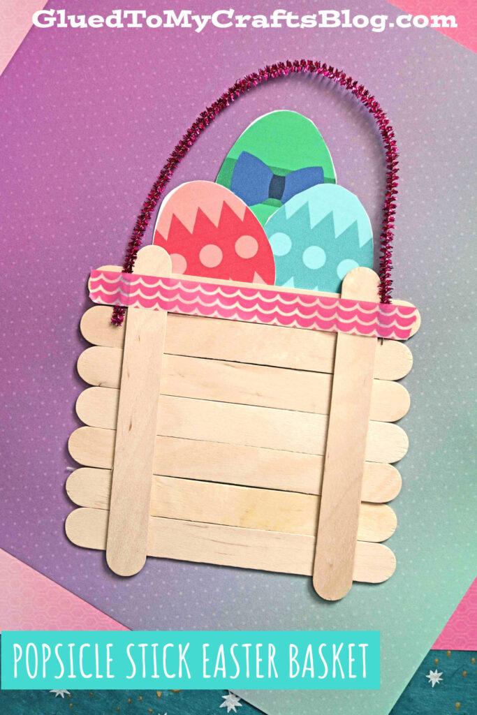Popsicle Stick Easter Egg Basket - Kid Craft