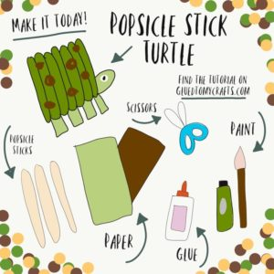 Popsicle Stick Turtle - Kid Craft