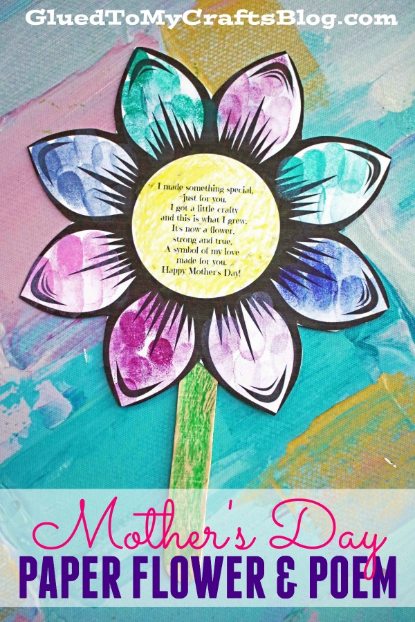 Mother's Day Paper Flower and Poem