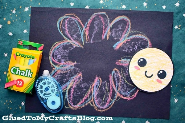 Paper Flower Chalk Art For Kids