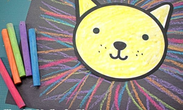 Colorful Chalk Art Lion Mane - Kid Craft Idea