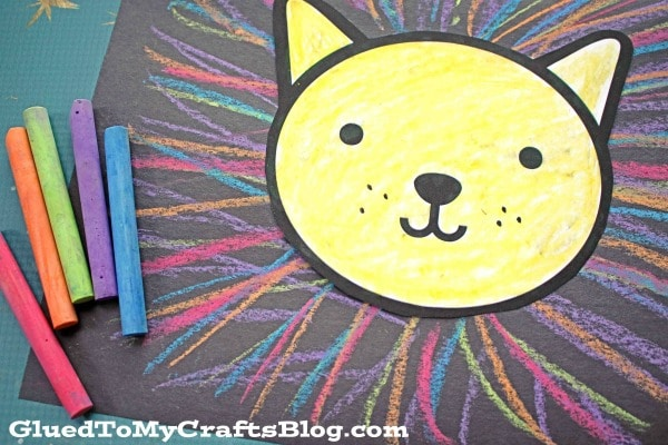 Colorful Chalk Art Lion Mane - Kid Craft Idea