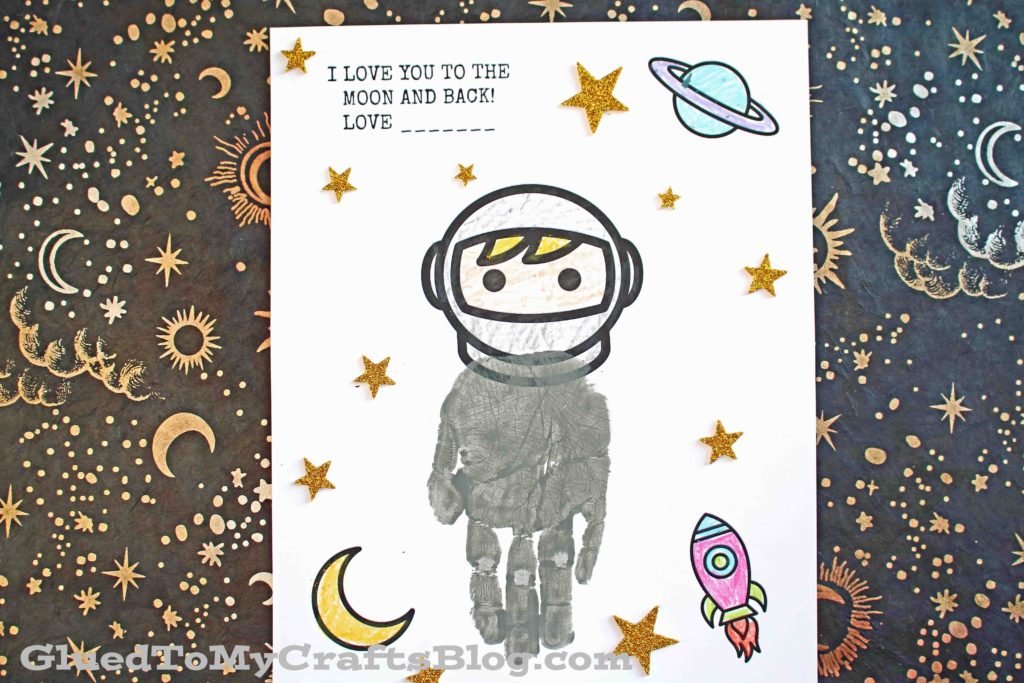 To The Moon & Back - Handprint Astronaut Keepsake