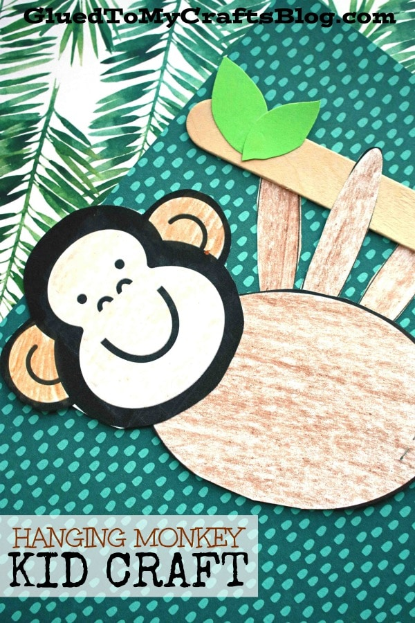 Paper Hanging Monkey - Kid Craft
